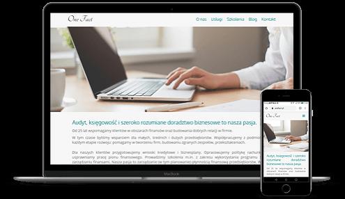 prezentacja responsywnego wyglądu strony kateflow.pl na monitorze i smartfonie